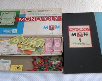 vintage monopoly . monopoly . vintage Board Game . monopoly game fragments . monopoly game boards . pat. no. 1509312 .