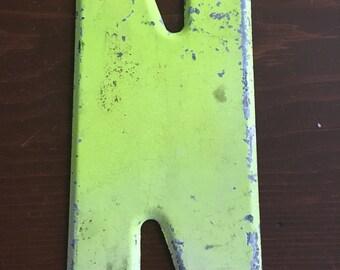 """Vintage metal letter N - 7.5"""""""