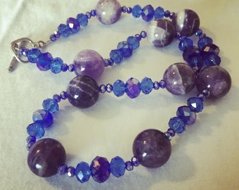 Besutiful Mountain Morning Amethyst Necklace