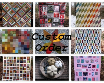 """Lisa Franken - CUSTOM ORDER - Deposit for 2 - """"nose to toes"""" nap quilts approx - - 65""""L x 55""""W"""