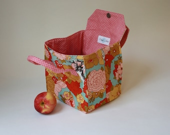 Wild Flowers and Forest Animals - Insulated Lunch - Bento Box Carrier with Magnetic Snap - Ready to Ship