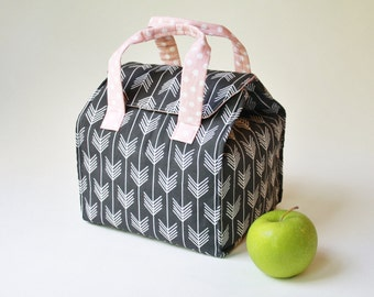 Custom Insulated Bento Box Carrier / Lunch Tote / Lunch Bag - Reusable - Washable - Choose Your Fabric