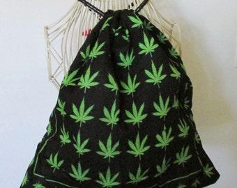 Mini Marijuana Leaves backpack