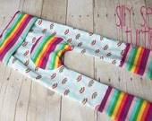 Maxaloones, Rainbow, Cloth diaper pants, grow with me pants, baby wearing pants, miniloones, monsterbunz, rainbow baby, sustainable clothing