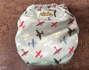 Pocket Diaper. One Size.  Aviator