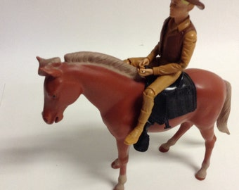 60s Vintage JOHNNY WEST & Poncho Horse Johnny West Series Cowboy
