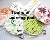 Nursing Pads, Organic Cotton Flannel & Waterproof Organic Cotton Flannel - 4 pairs