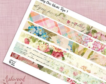 Shabby Chic Vintage Floral Washi Tape
