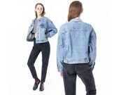 LEVIS JEAN jacket Oversize denim jacket 90s boxy vintage women Medium coats / better Stay together