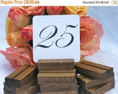 Rustic Wedding Wood Table Number Holders- Set of 10