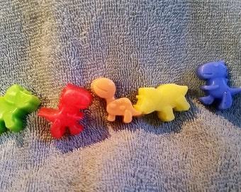 Mini Dinosaur Soap Set  - Kid's soaps. Party Favors. Special treats. Stocking Stuffers.