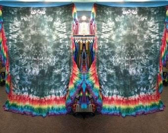 Rainbow tie dye bed skirt or sheet size full