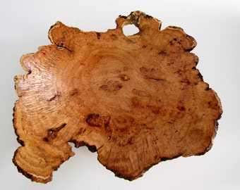 Wood Bowl - Natural Edge Cherry Burl Wood Turned  Bowl or Platter - Housewarming Gift- Wedding Gift- Gifts for Him - Gifts for Her