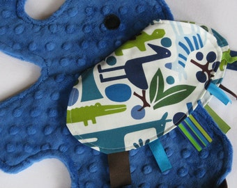 Zoo Day Royal Blue Elephant Shaped Sensory Blanket