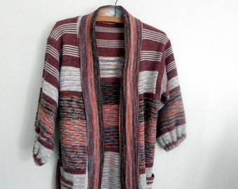That 70s cardigan | vintage wrap sweater | 1970s acrylic knit cardigan