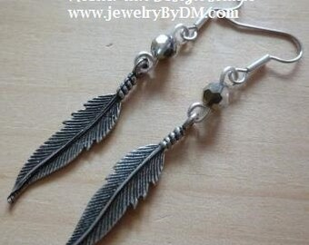 Boho Chic Feather Earrings