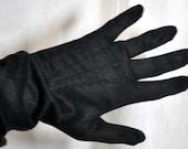 Black nylon gloves vintage