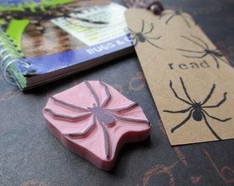 Spider - Hand Carved Rubber Stamp
