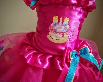 Shopkins cake Cute Birthday Party Shopkins Tutu outfit 12 months 2t 3t 4t 5t