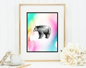 Gentle Bear Instant Digital Download DIY Print yourself