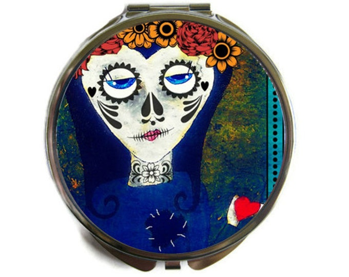 Day of the Dead Compact Mirror Pocket Mirror Large