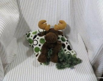 Security Blanket, baby blanket, luvi, lovie - moose lovems