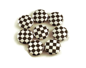 Set of 8 Button Magnets in Checkers  with Storage Tin (BMT113)