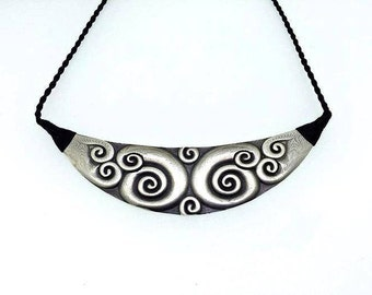 Sterling Silver Koru Necklace. Handmade