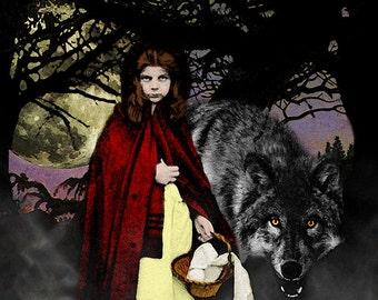 Red Riding Hood - 11x14 Dark Fantasy Fine Art Digital Collage Print