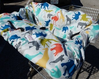 Shopping cart cover for boy or girl BABY CHIC MichaelMoooDesign... Shopping Cart Cover