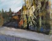 Original abstract landscape Foss Road