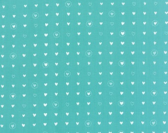 Lil Red (20506 14)  Sweet Hearts Turquoise by Stacy Iset Hsu  - cut options available