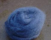 Dark Blue Indigo Hand Dyed Wensleydale Tops