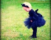 Black Cat Costume, SEWN Tutu, Costume Set, Toddler Cat Costume, Baby Cat Costume, Cat Ears Headband, Fuzzy Cat Tail, Kitty Cat Costume