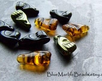 Reserved for Diana, Tribal Beads, Boho Beads, Rare Glass, Assortment, Czech Glass, Hand, Fist, Milagro Beads, Trade Beads-10 Beads