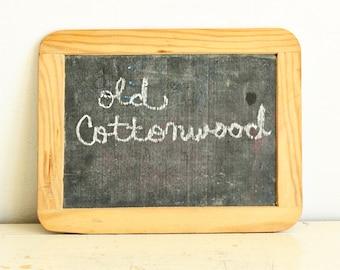 Vintage chalkboard - slate - school - chalk tablet - wood frame - double sided - small school chalkboard