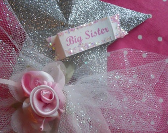 Big Sister Wand with a Satin Rose