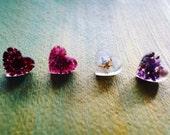 Orgonite Heart Gemstone Earrings