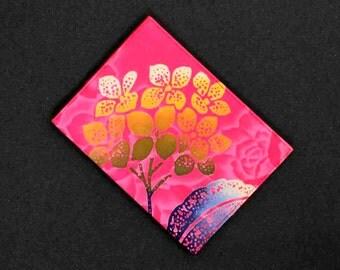 Japanese Yukata Fabric Passport Cover Hydrangea