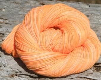 Handpainted Quench Sock Yarn -75/25% Superwash Merino Wool / Nylon - Pumpkin Eater
