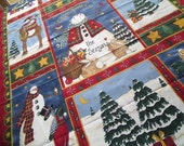 Celebrate the Season Christmas Holiday Snowman Fabric Panel - Deb Strain for Moda - Cheater Quilt