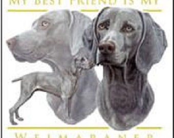 WEIMARANER  Multi-Dogs on Twelve Identical  6 inch Fabric Squares for Quilting and Sewing