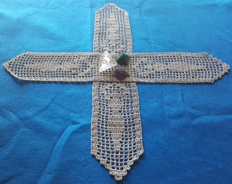 Goddess Altar Runners for Witch Craft Magic and Devotion. Wicca Crochet