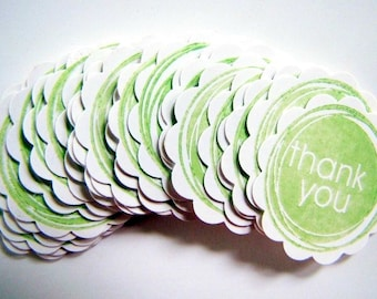 Thank You Tags Lime Green Pack 40 Lolly Bags, Gift Tags, Customer Orders, Bonbonierri, Thank you Gift