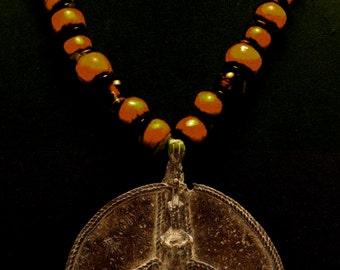 African Bronze Ancestor Totem Amulet