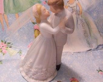 lefton porcelain wedding cake topper