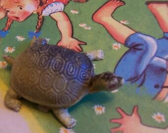 little vintage plastic turtle