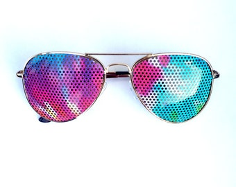Hot Pink Frameless Designer Sunglasses With Pink Shades And