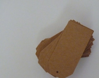 SUMMER SALE Plain kraft card brown price tags hang tags 2 x 1 inches