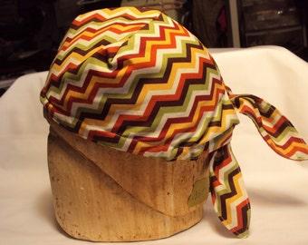 Pirate cap, zig zag design--Great for Halloween